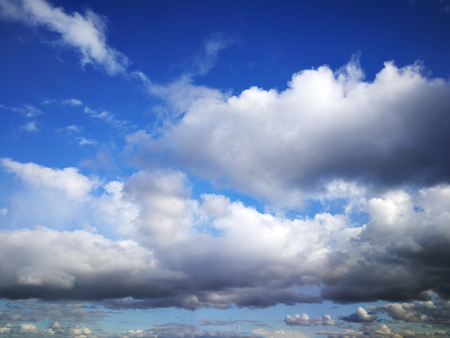 Spring rain clouds Stock Photo