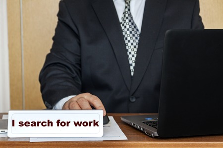 Im looking for work Stok Fotoğraf