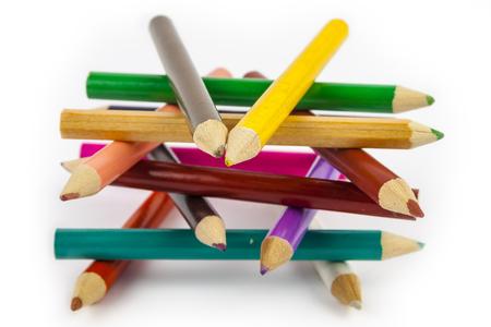 Abstract figure of pencils Foto de archivo - 103953217