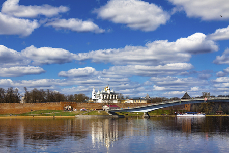 Veliky Novgorod, Russia Ancient temple Ancient temple. An ancient temple in the early spring. Banque d'images