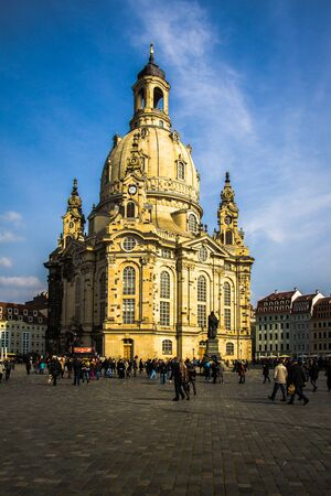 Germany, Dresden, 02.03.2014 Church Frauenkirche in the morning