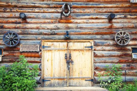 Wooden gate of the old forge