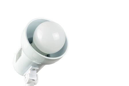 A lamp with a lamp on a white background