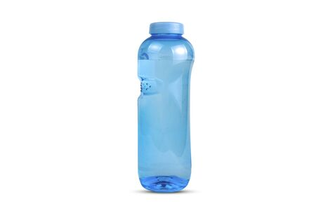 Fitness water bottle on a white background