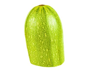 Half of zucchini on a white background close-up 写真素材