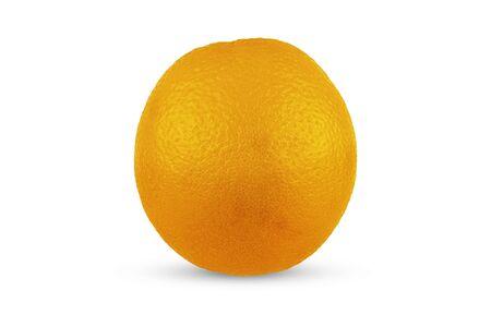 Ripe orange closeup on a white background. Isolate 写真素材