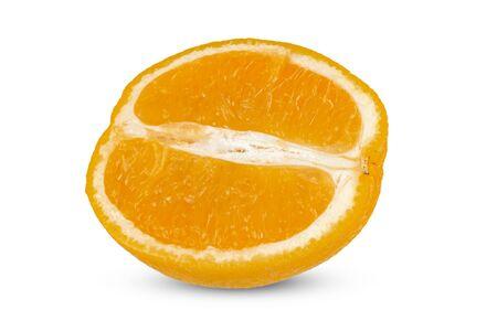 Half ripe orange close-up on a white background. Isolate 写真素材