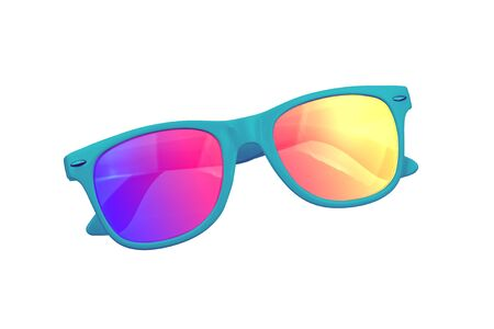 Sunglasses with the reflection of the sun in them