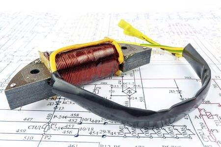 Generator coil lies on a paper circuit