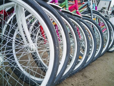 Bicycle wheels are on the market for sale