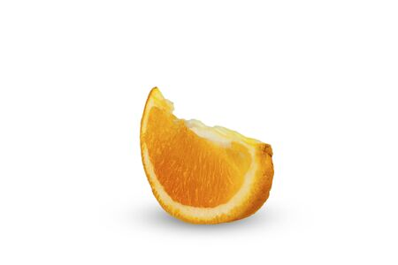 A slice of orange on a white background Foto de archivo - 149066919