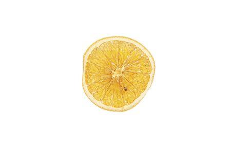 A sliced orange on a light background, close-up Foto de archivo - 150128406