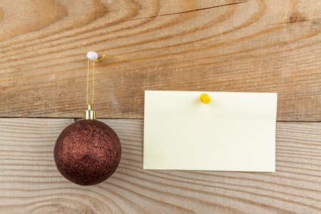 Christmas theme, a template for an inscription on a wooden background