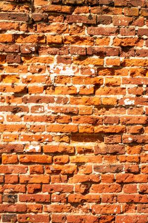 Background. Ancient masonry of a brick wall. Foto de archivo