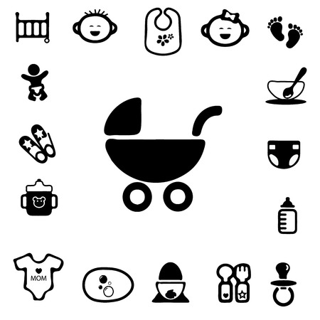 Baby Silhouette Icons Vector