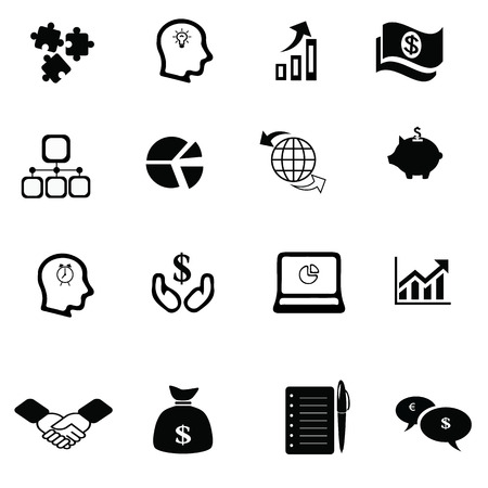 supporting: Business icon set