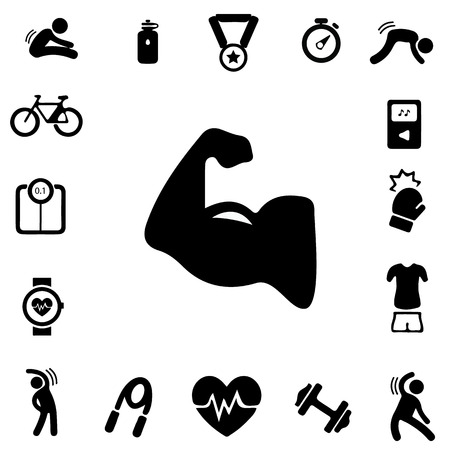 exercise machine: Exercise Silhouette icons