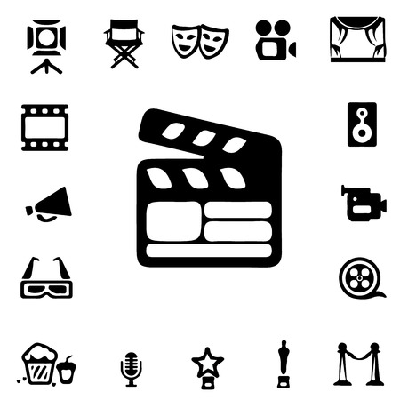 3 d glasses: Film industry Silhouette icons Illustration