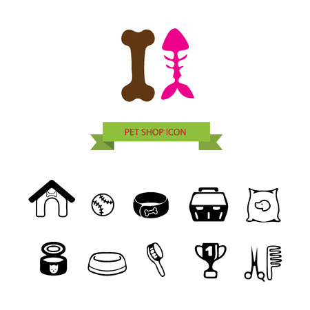 bodycare: Pet shop icon set