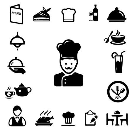 Restaurant icons Standard-Bild - 37838310