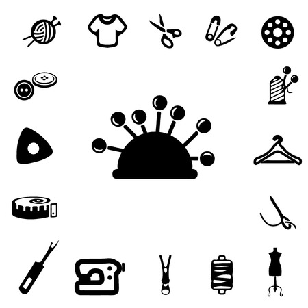 dry cleaned: Sewing Silhouette Icons Illustration