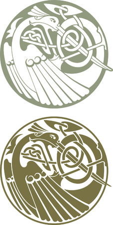 bird  celtic: Celtic Bird Illustration