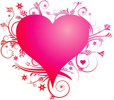 Heart and Swirls Stock Vector - 4515621
