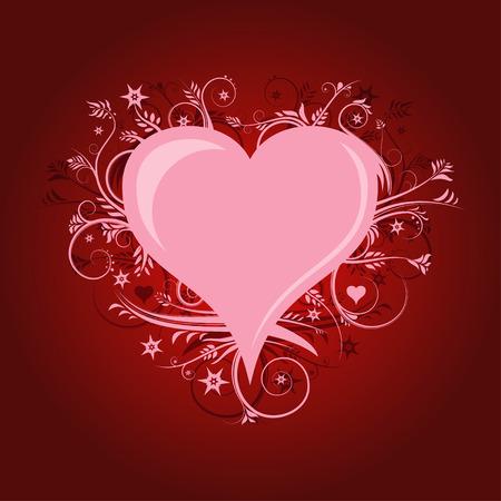 Heart and Swirls Stock Vector - 4515623