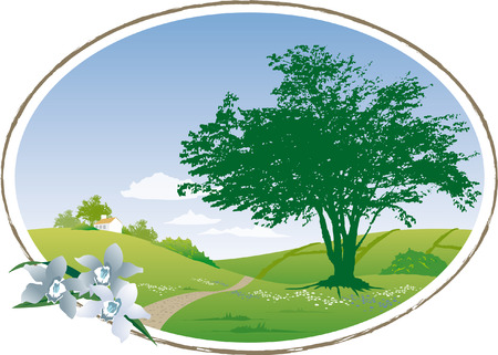 Peaceful country scene Stock Vector - 4846884