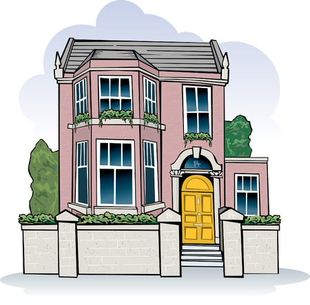 English period house Stock Vector - 4846883