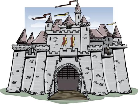 castello fiabesco: Castello di fiabe Vettoriali