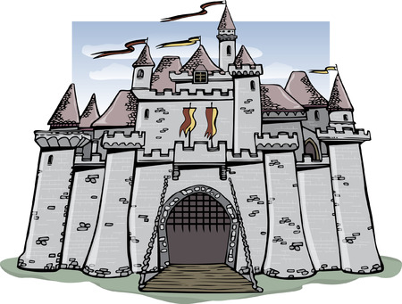 turrets: Fairytale Castle Illustration