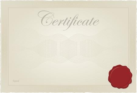 Certificate, Diploma Vector Template