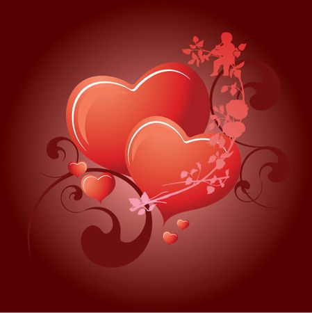 Valentine's Day 2 Hearts Stock Vector - 6182147