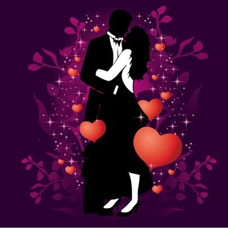 Romantic Valentine Couple Stock Vector - 6182149
