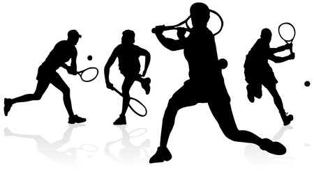 backhand: Tennis Silhouettes
