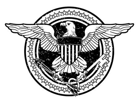 presidents': American Eagle Stamp Illustration