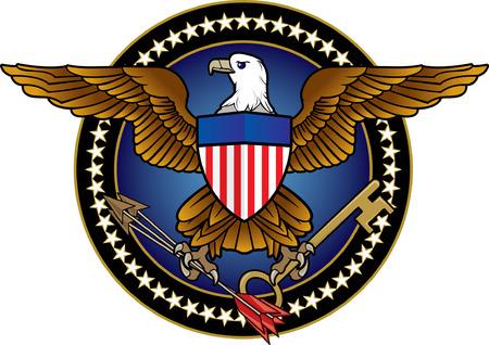 presidential: American Eagle Icon Illustration