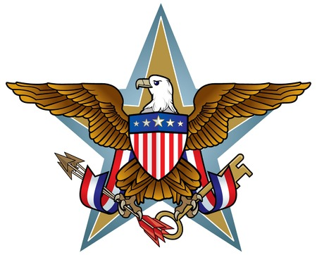 president of the usa: American Eagle Icon Illustration