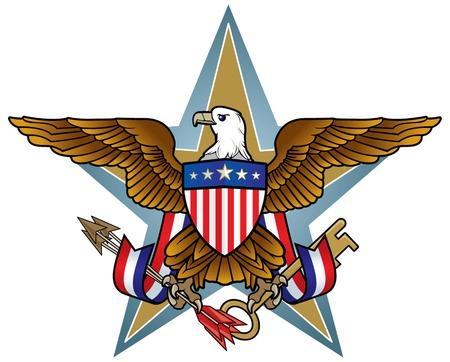Icono de American Eagle  Ilustración de vector