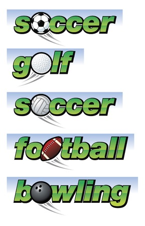 soccer: Collection of sports related banners
