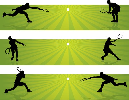 Tennis Banners Vector