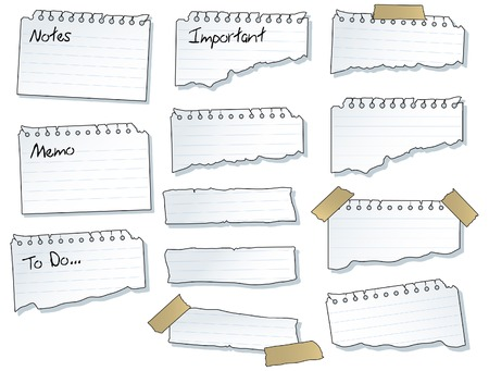 message pad: Torn Note Pad Pages