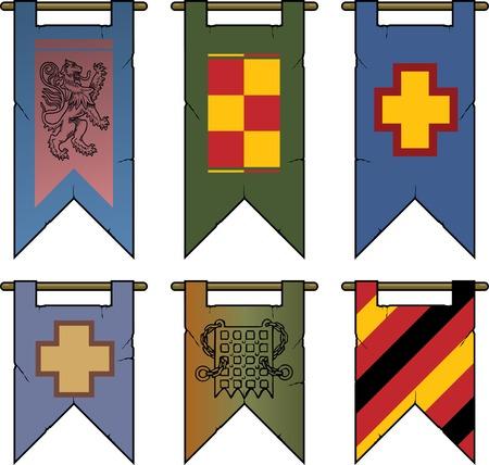 Heraldic Banners & Flags Vector