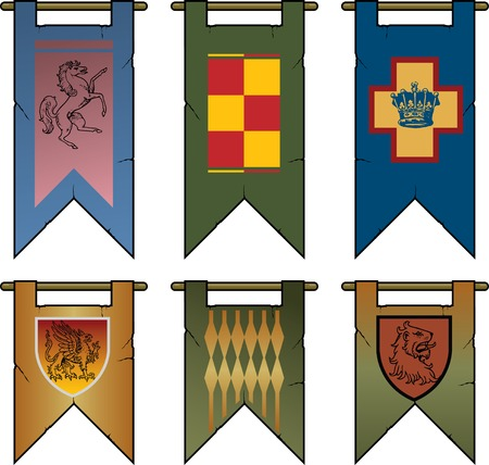 Heraldic Banners & Flags Stock Vector - 6682877