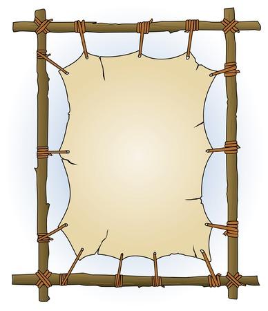 apache: Primitive Sticks & Canvas Frame