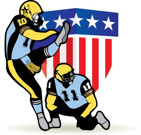 American football graphic