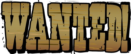 Wanted Lettering Vector