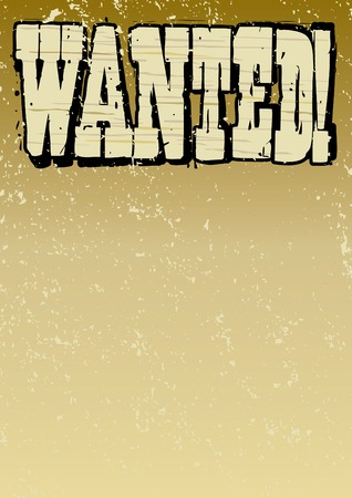 Old Style Wanted Poster Stock Vector - 6872543