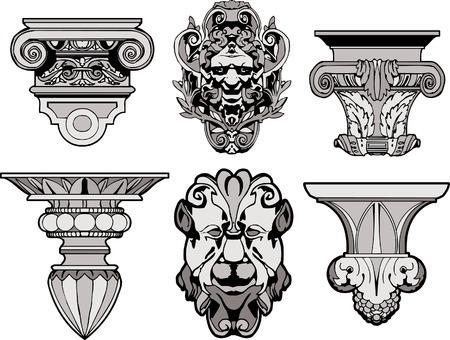 columnas romanas: Adornos de arquitectura romanas